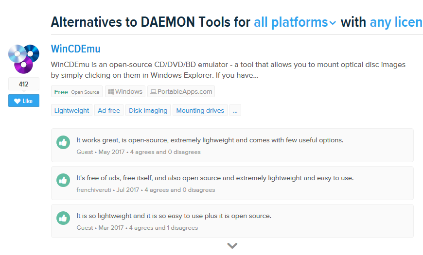 DAEMON Tools - AlTo Page